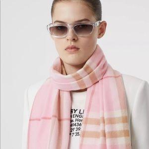 BURBERRY   light checkered cashmere scarf